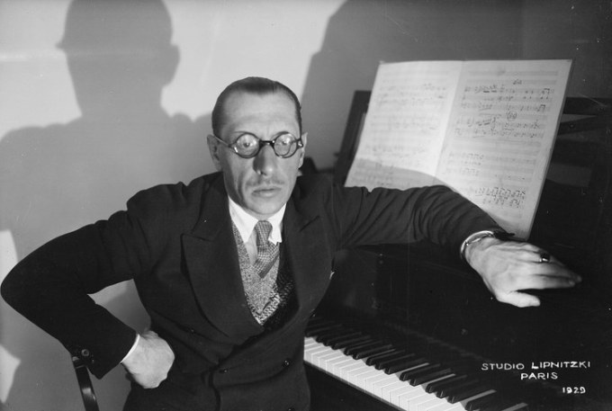 Stravinsky photo in Paris
